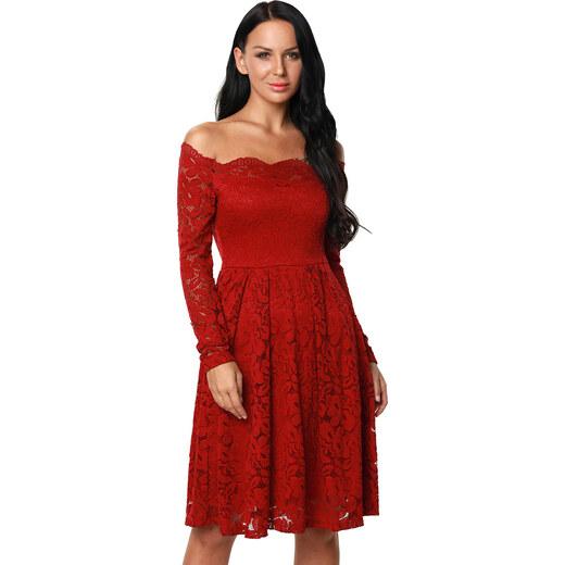 91b43c8c600f Manzara Koktejlové šaty SIMONE červené - Glami.sk