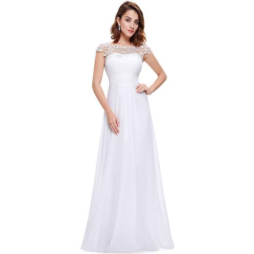 7ba5b6284cc7 Ever Pretty bílé šaty s krajkou - Glami.cz