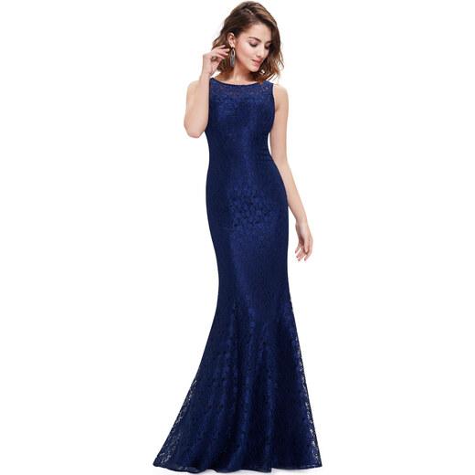 EVER PRETTY krajkové modré šaty - Glami.cz 52ec2a4dfb