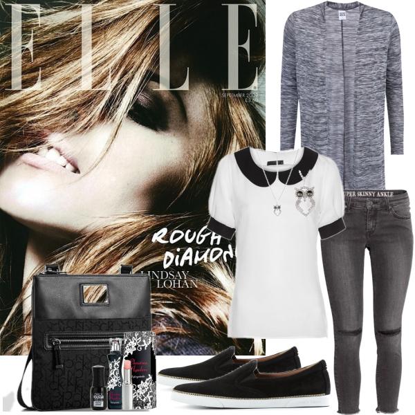 Skinny džíny a svetřík