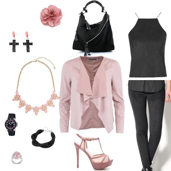 semišový outfit