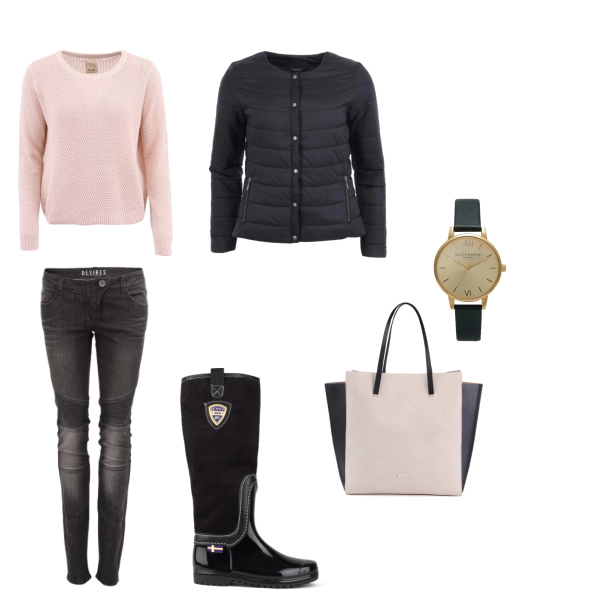 Pink and black autumn