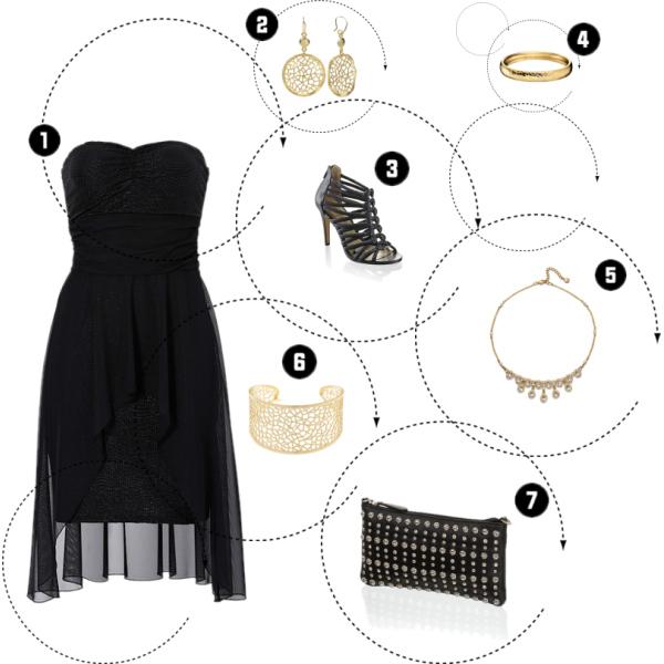 Zlatočerný outfit :)