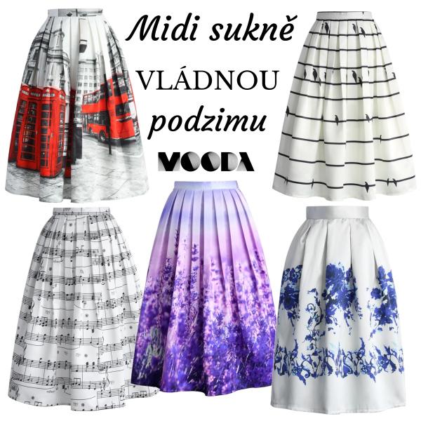 Midi sukně vládnou!
