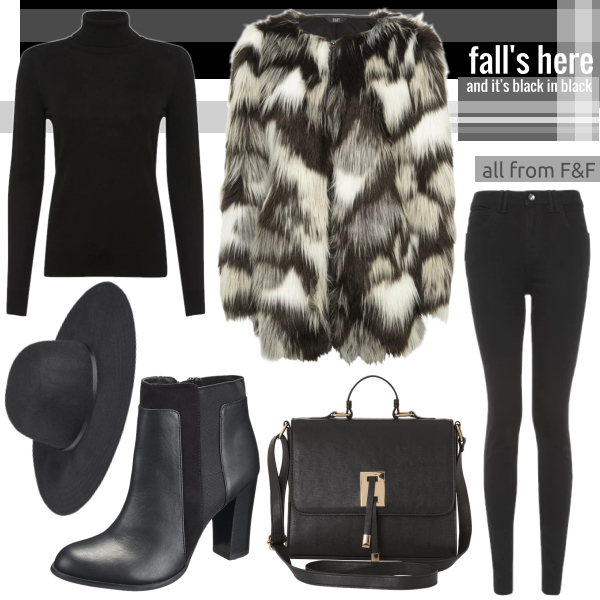 Fall's here and it's black in blac w/F&F