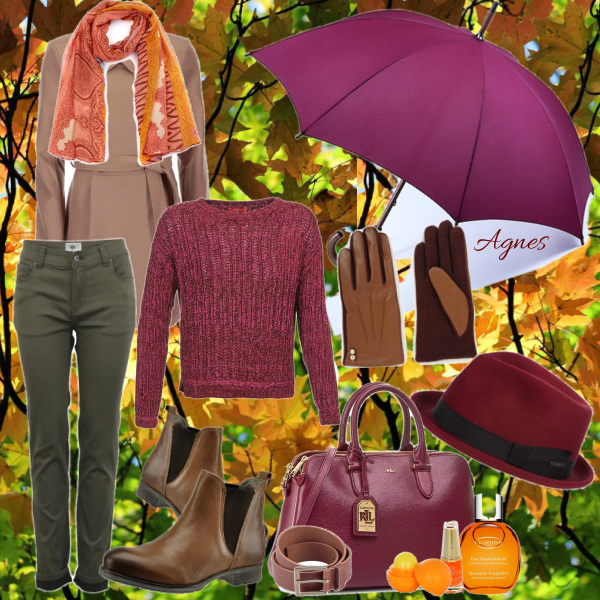 Podzim s deštníkem