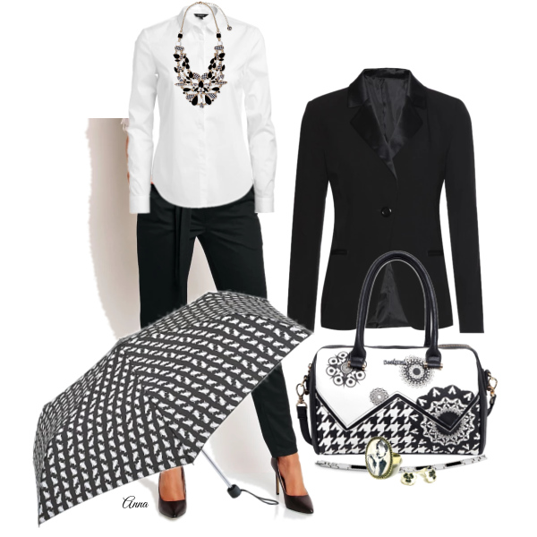 klasika:černo-bílá kombinace