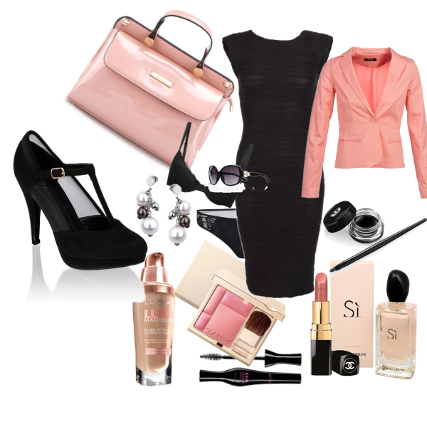 pink and  black woman