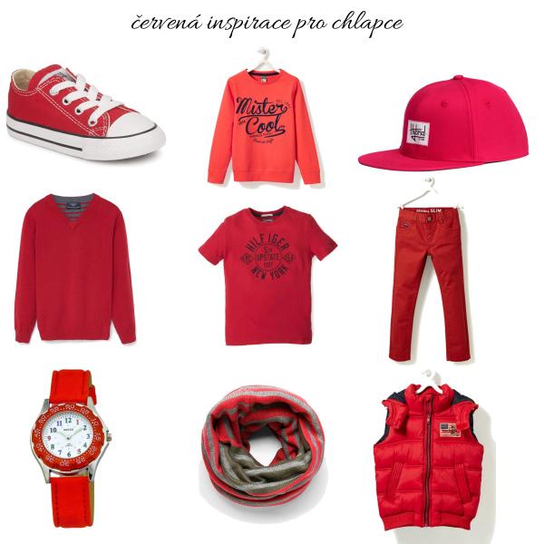 Červená inpirace pro kluky
