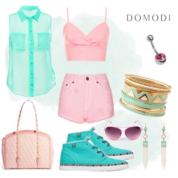 Blue a pink