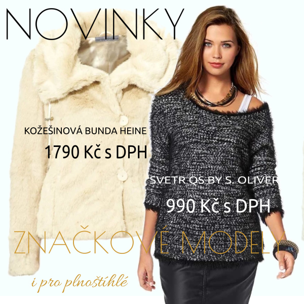 NOVINKY - značkové a návrhářské oděvy se slevou až -50%