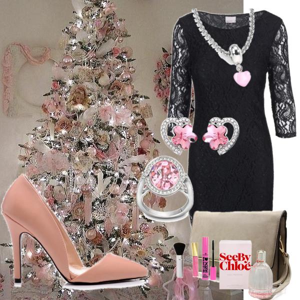 Jemná růžová na vánoční den