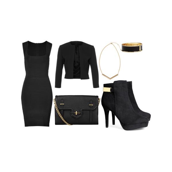 Black golden look