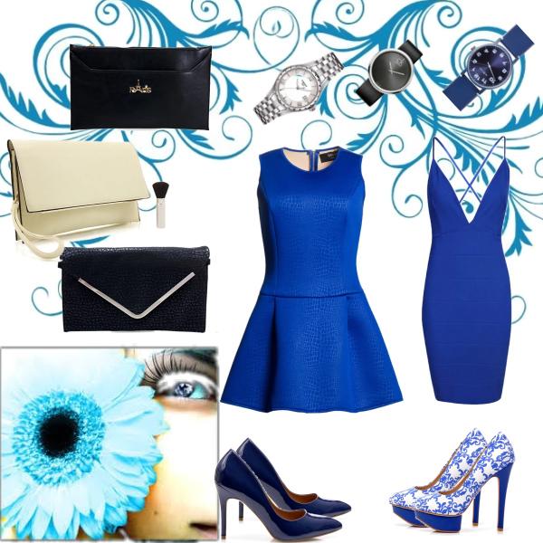 Chic v modré