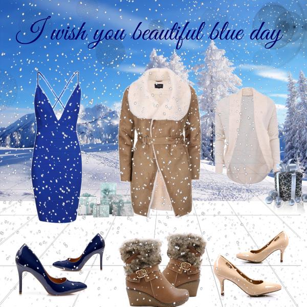I wish you beautiful blue day