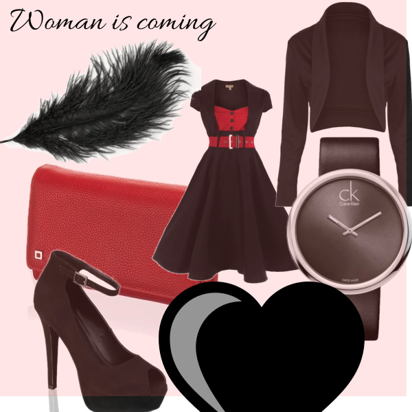 Woman is coming