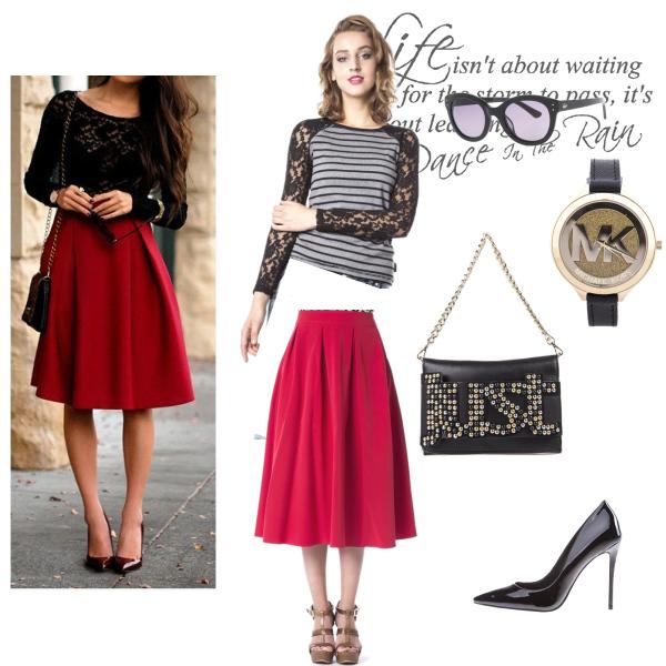 Červená sukně by Bibloo
