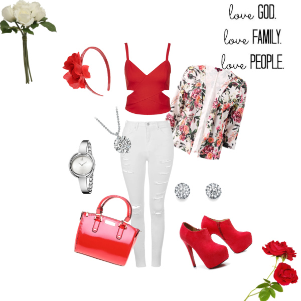 RED and WHITE colage ♥ od Angee