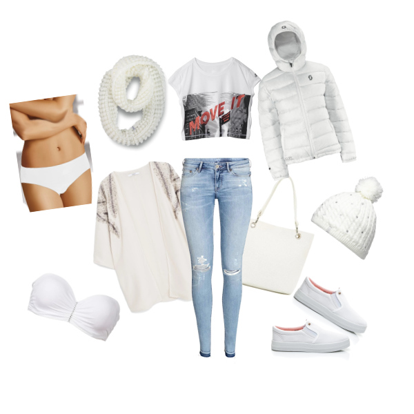 DŽÍNY and WHITE set ♥ od Angee