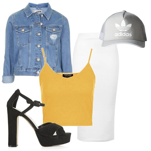 Denim & Skirt