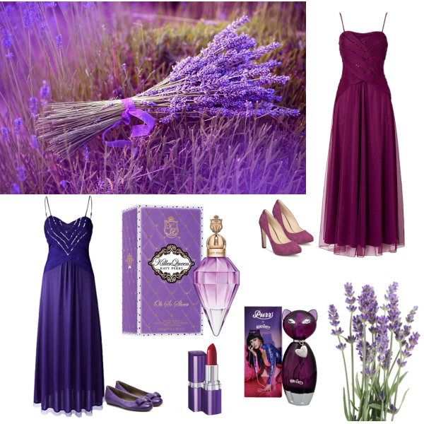 fialový a purpurový set