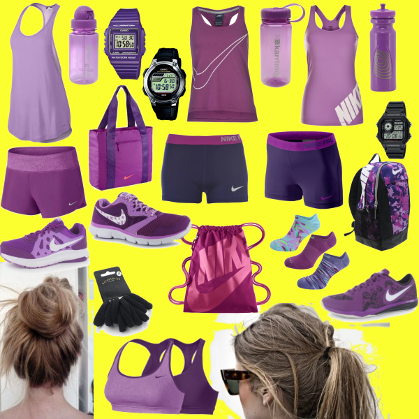 horké sportovní dny ve fialové