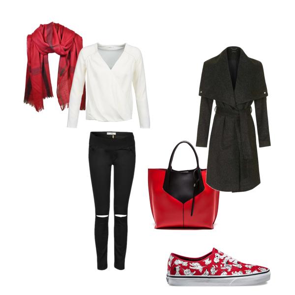 červená, černá a bílá
