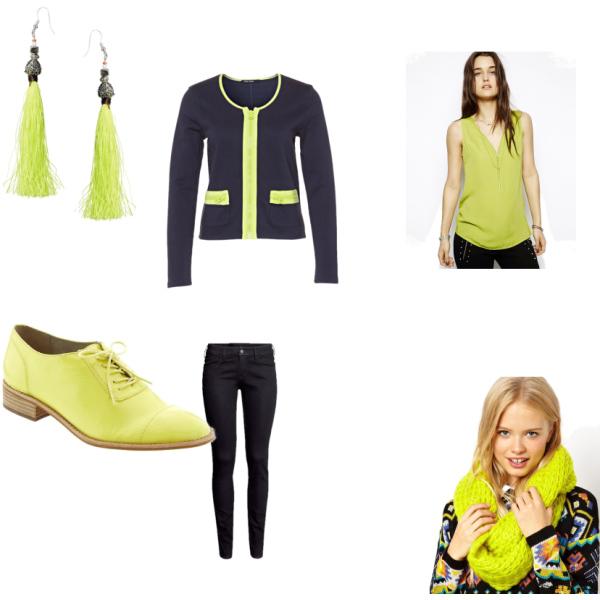 einfach gelb grün