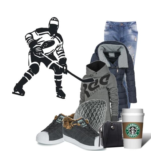 Ráda chodím na hokej!