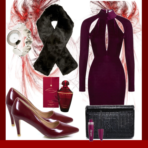 Outfit marsala