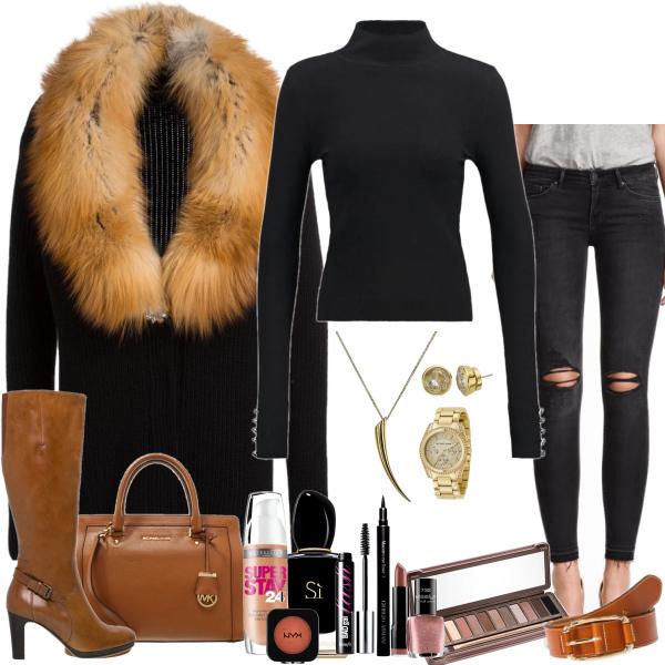 beautiful fur coat