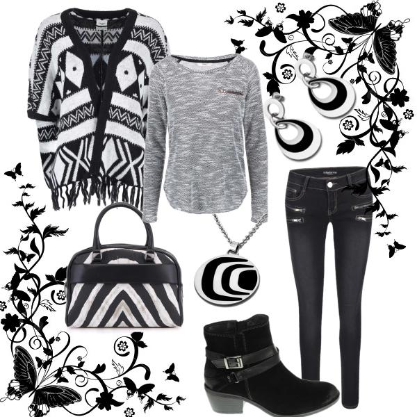 černobílé vzory