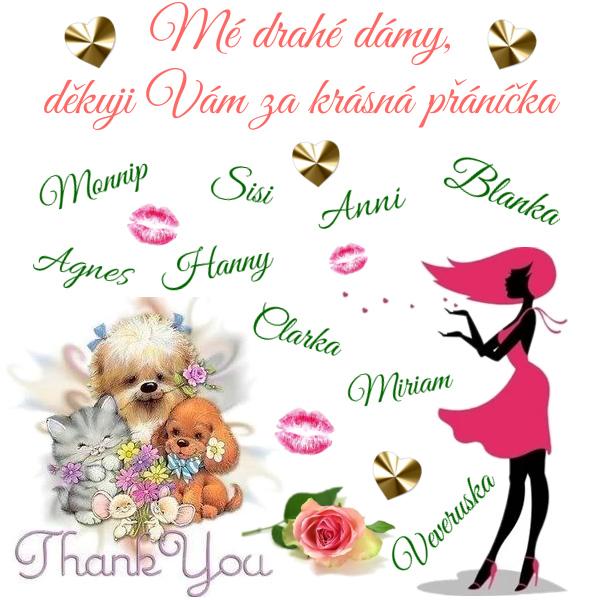 Děkuji Vám, zlatíčka ♥