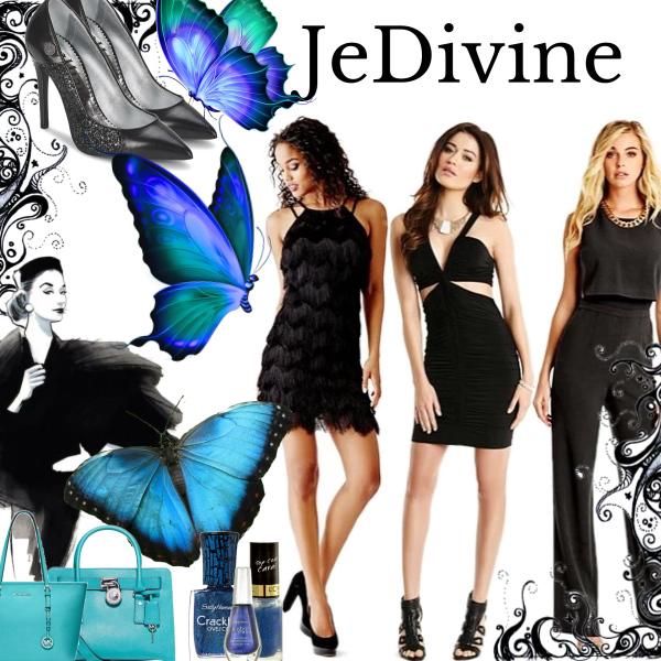 Černá elegance společně s odstínami modré