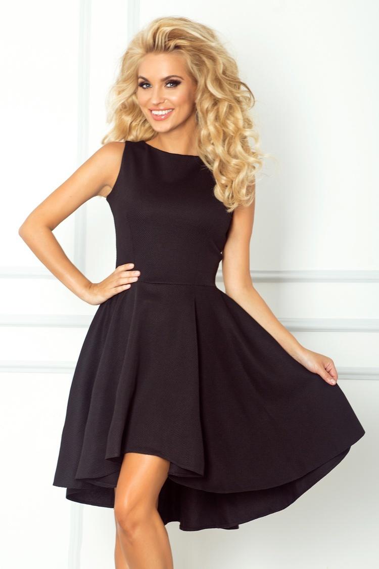 6f6e9040994 numoco Luxusní dámské společenské a plesové šaty s asymetrickou sukní  černé. 1