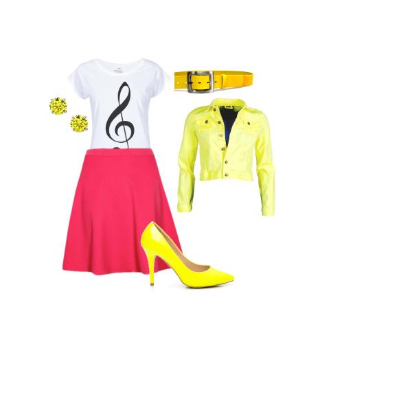 růžovo - žlutá