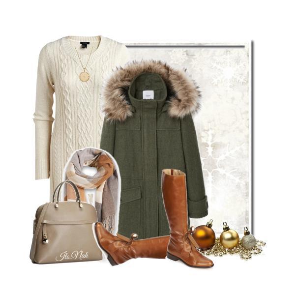 Bílé šaty v zimě