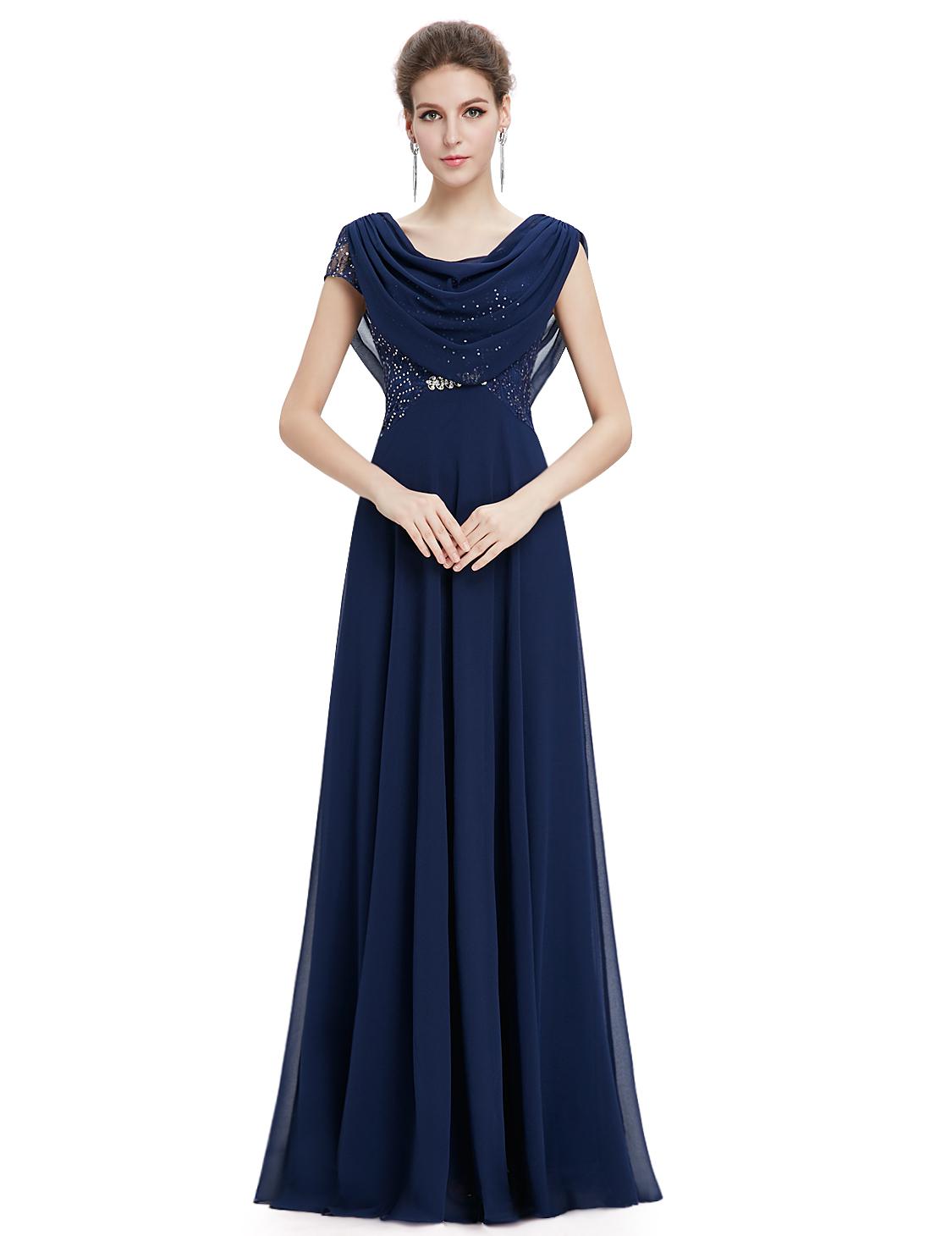 Dámské elegantní Ever Pretty plesové šaty modré 9989 - Glami.cz 5827083a638