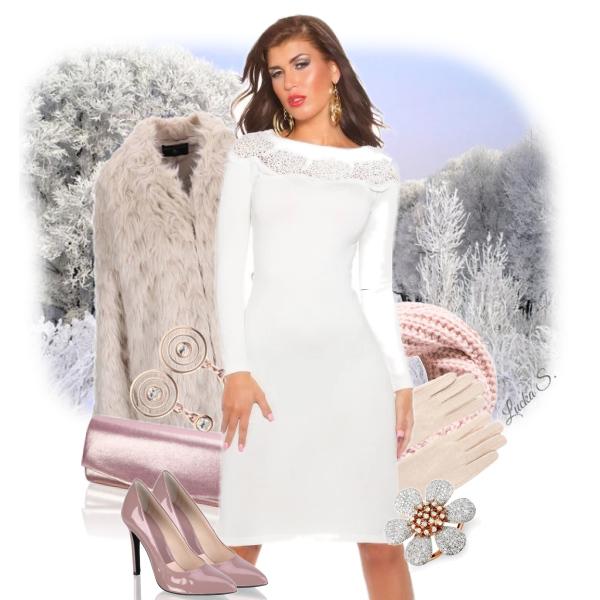 Jak nosit bílé šaty v zimě