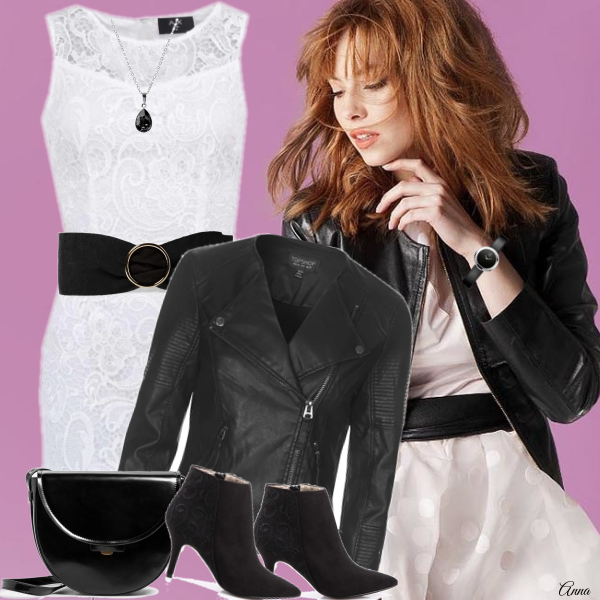 Jak nosit bílé šaty v zimě.