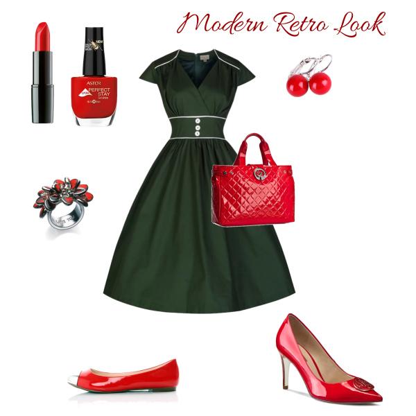 Modern Retro Green+Red