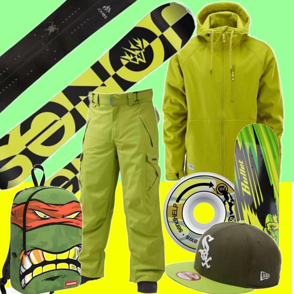 zeleno žlutý