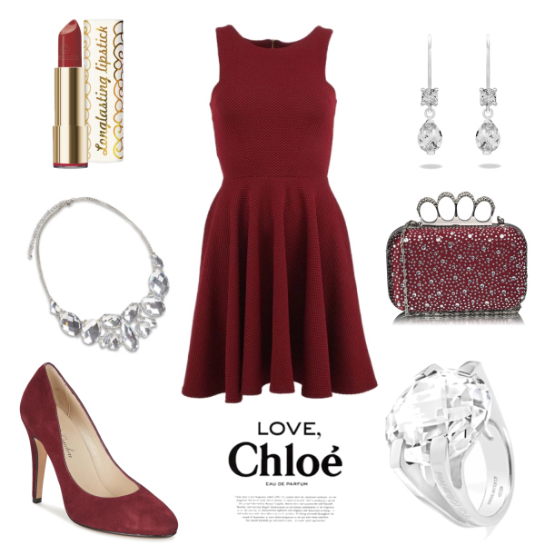 Chic in red.