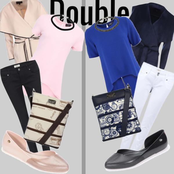 Double AaK-růžovo-černá a modro-bíla