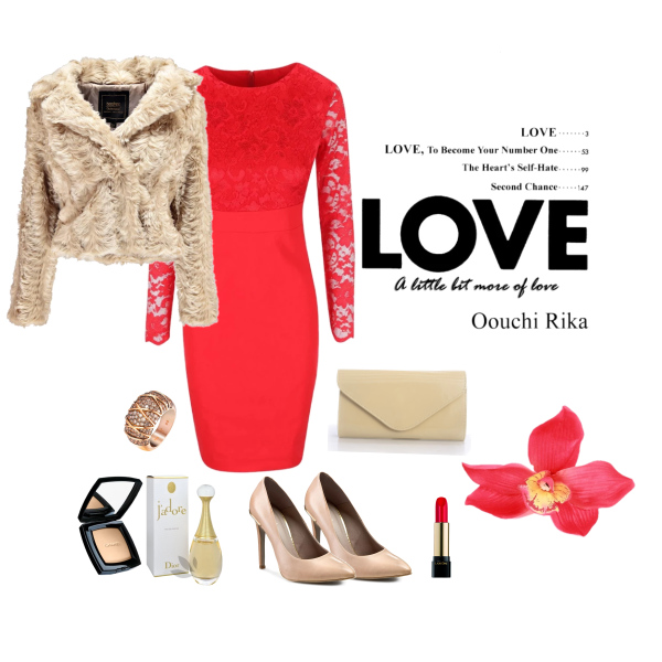 Red dress evening styling