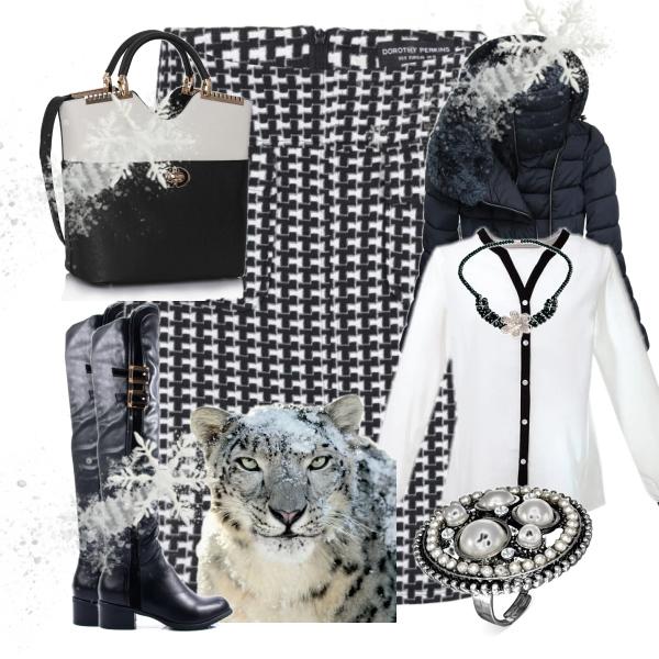 Zimní sukně - elegantně