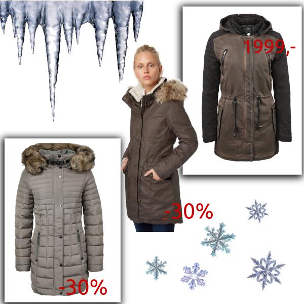 Sleva na dámské zimní kabáty