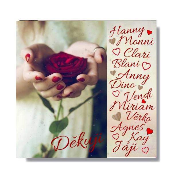 Mé neznámé přítelkyně,příjměte z rukou mých krásný z růže květ,za vaše přátelství,co zkrášlilo mi svět.Možná Vás v životě snad ani nepotkám,ale vím s jistotou,že Vás tam někde mám.....