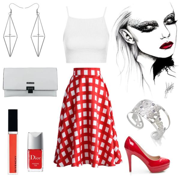 Červenobílý styl