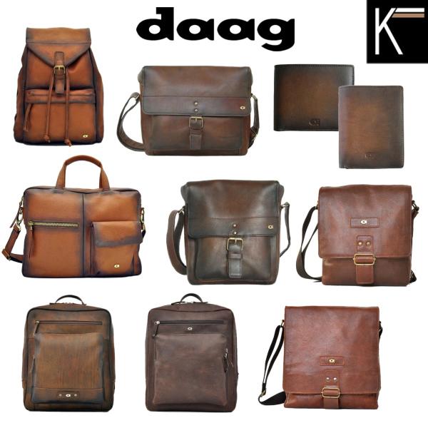 Nadčasové kožené tašky, batohy a peněženky Daag